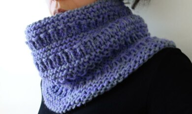 Lavender Chunky Cowl