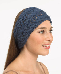 Cabled Headband in Plymouth Baby Alpaca DK - F317