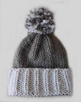 Colorblock Beanie Pom Hat