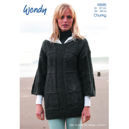 Leaf Tunic and Sweater in Wendy Norse Chunky - 5695