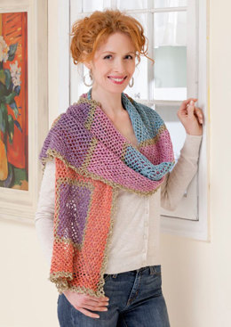 Wrap Me Shawl in Red Heart Stardust - LW3016 - Downloadable PDF