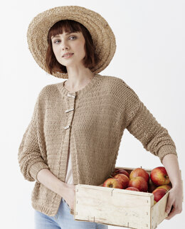Jeanne Cardigan in Phildar Phil Ecocoton - Downloadable PDF