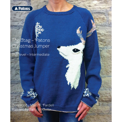 The Stag - Patons Christmas Jumper in Patons Merino Extrafine DK