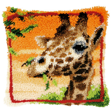 Vervaco Giraffe Eating Leaves Latch Hook Kit