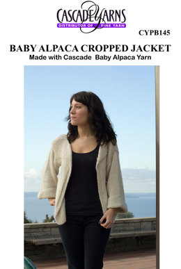 Cropped Jacket in Cascade Baby Alpaca B145