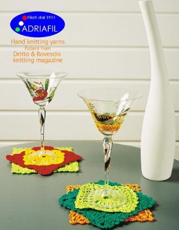 Underglasses and Pot Holders in Adriafil Memphis and Cheope - Downloadable PDF