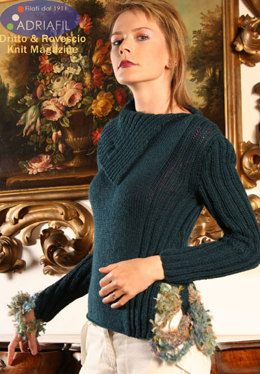 Tokyo Pullover in Adriafil Mirage and Baroque - Downloadable PDF