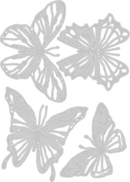 Sizzix Thinlits Dies By Tim Holtz - Scribbly Butterfly
