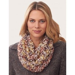 V-Stitch Infinity Scarf in Bernat Blissful - Downloadable PDF