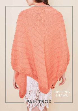 Rippling Shawl in Paintbox Yarns Simply DK - Downloadable PDF