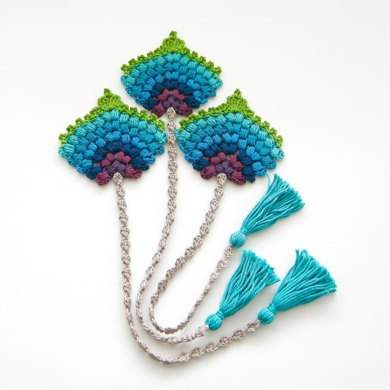 Bookmark Peacock Feather Fan