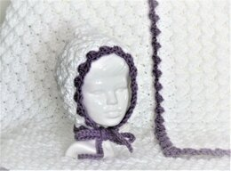 Easy Crochet Baby Puff Pixie Bonnet and Blanket