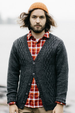 Men's Cardigan in Novita Nalle - 10 - Downloadable PDF