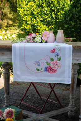 Vervaco Flowers & Butterflies Table Runner Cross Stitch Kit