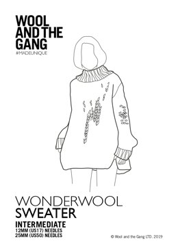 Wonderwool Sweater in Wool and the Gang - Downloadable PDF
