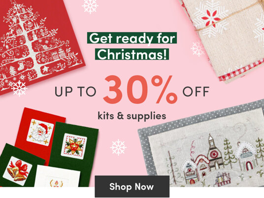 Up to 30 percent off Christmas kits & supplies!
