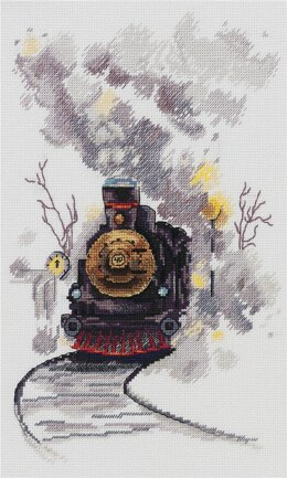 PANNA The Misty Express Cross Stitch Kit - 17cm x 27cm