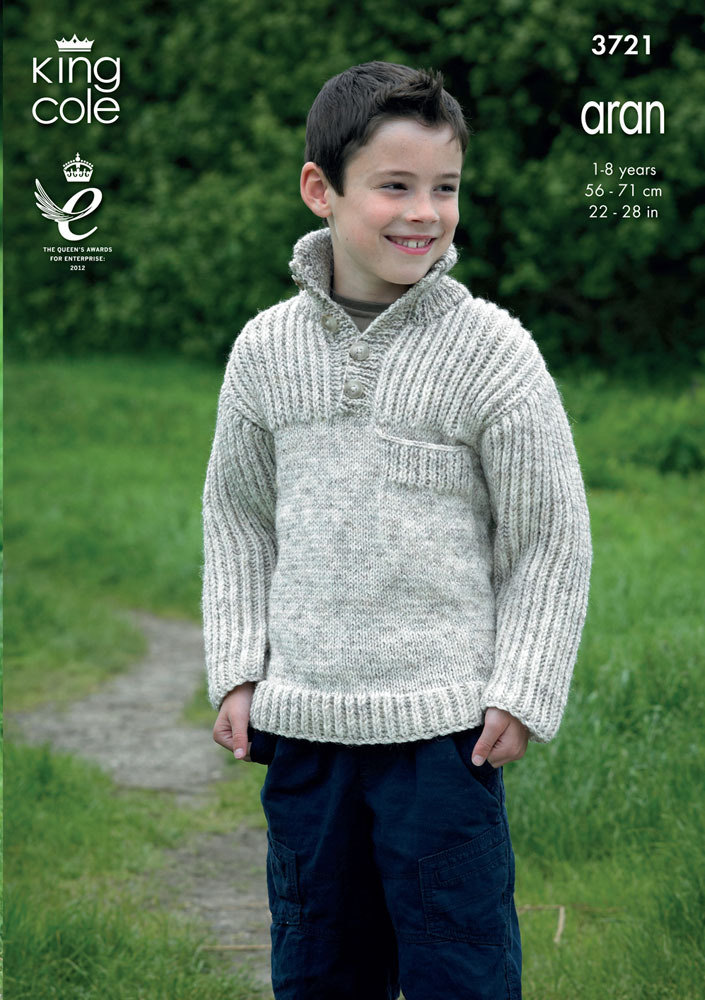 Cardigans And Sweaters In King Cole Aran 3721