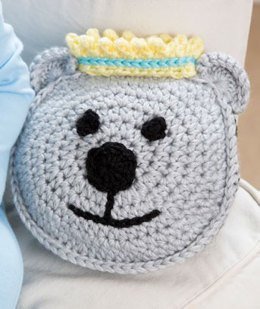 Prince Bear Pillow and Hat in Red Heart Soft and Soft Baby Steps - LW4390EN