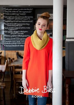 """Aislinn Snood"" - Snood Knitting Pattern For Women in Debbie Bliss Roma - DBS022"