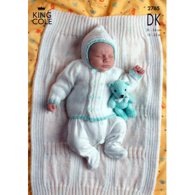 Jacket, Sweater and Blanket in King Cole Comfort Baby DK - 2765