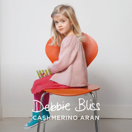 """Thea Cardigan"" - Cardigan Knitting Pattern For Girls in Debbie Bliss Cashmerino Aran - DBS068"