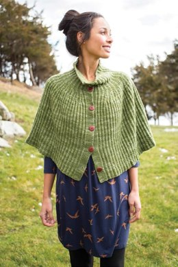 Cadi Cape in Berroco Artisan - 382-4 - Downloadable PDF