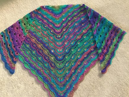 Crochet Pattern For The Virus Shawl : Virus Shawl crochet project by Kate P LoveKnitting