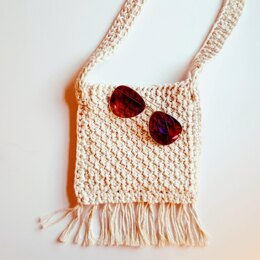 Tunisian Crochet Fringe Bag
