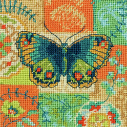 Dimensions Butterfly Pattern Needlepoint Kit - 13 x 13 cm