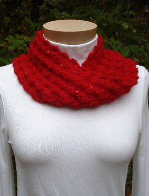 Sequined Mobius Cowl - PA-130a