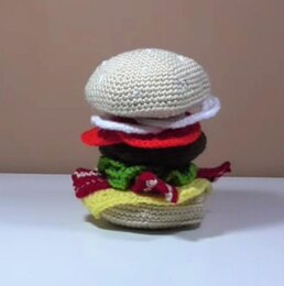 Crochet Foods - Hamburger Amigurumi