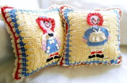Raggedy Ann and Andy Pillow