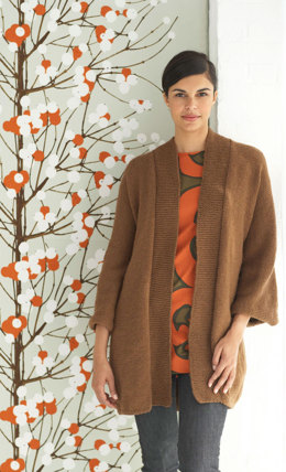 Zen Coat in Lion Brand Wool-Ease - 70714AD
