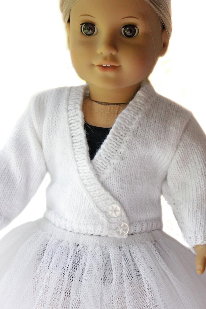 Ballet Sweater For 18 Inch Dolls Knitting Pattern By Doll