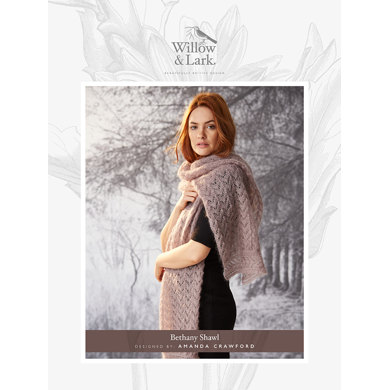 Bethany Shawl in Willow and Lark Plume - Downloadable PDF