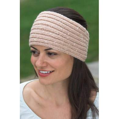 Ribbed Headband in Plymouth Encore Worsted - F426 Knitting Patterns LoveK...