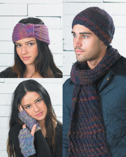 Headband, Scarf and Beanies in Wendy Festival Chunky - 5738