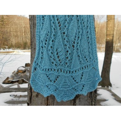 Airy Leaves Lace Scarf Knitting Pattern By Melody Hadley Knitting