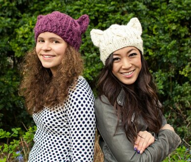 Cabled Cat Ears Hat