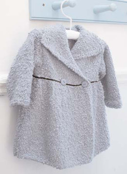 """Maisie Coat"" - Coat Knitting Pattern in Debbie Bliss Cashmerino Astrakhan - CMC14"