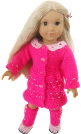 Winter casual for american girl , gotz and other 18'' dolls
