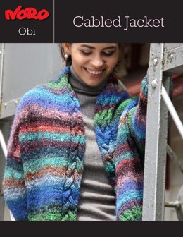 Cabled Jacket in Noro Obi