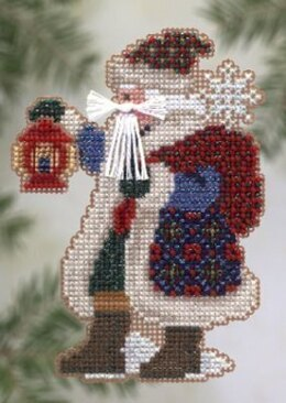Mill Hill Ice Cap Santa Beaded Cross Stitch Kit - Multi