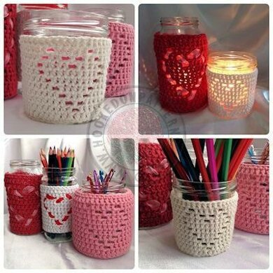 Heart Shape Jar Candle Cover