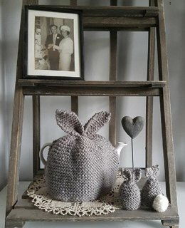 Bunny Tea Cosy and Egg Cosy – Downloadable PDF Knitting Pattern