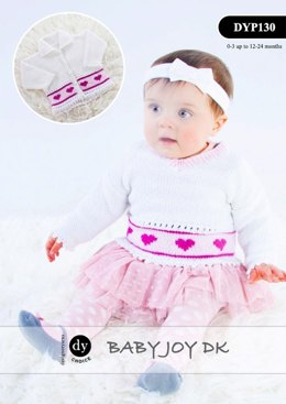 Cardigan & V-Neck Sweater in DY Choice Baby Joy DK - DYP130