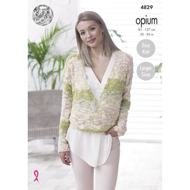 Sweater & Top in King Cole Opium - 4829 - Downloadable PDF