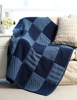 Sampler Blanket in Bernat Super Value