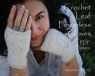 Leaf Crochet Gloves